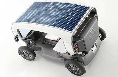 solar car and wind vane